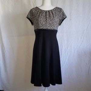 new directions Dresses - Black and Leopard Dress